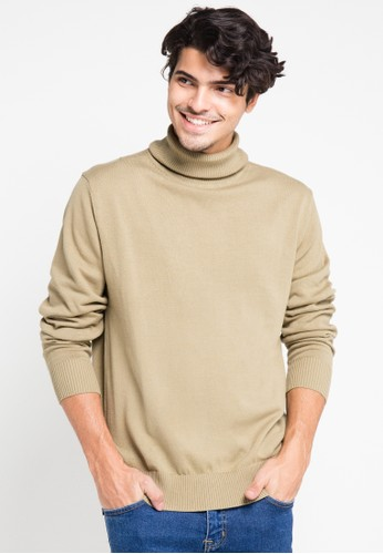 Noir Sur Blanc brown Mens Turtleneck Long Sleeve NO321AA0V4V9ID_1