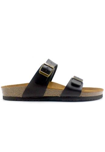 SoleSimple 黑色 Glasgow - 黑色 百搭/搭帶 軟木涼鞋 637D4SH7AEEB84GS_1
