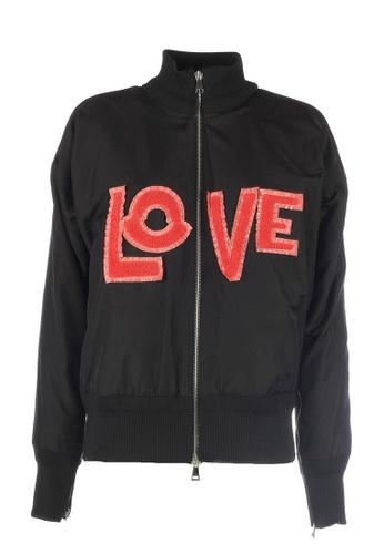 Moncler black Moncler Genius 2 1952 Lacaire Love Zipped Jacket in Black F07EDAA1F4F9B8GS_1