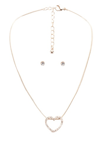 Call It Spring gold Debilis Necklace And Earrings Set 20047ACE4DEAA0GS_1