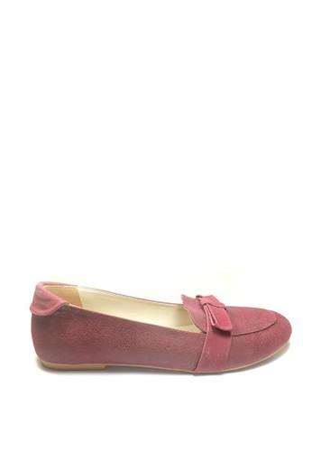 Beauty Shoes red Beauty Shoes 1058 Loafer Maroon EC392SH82B8B5EGS_1