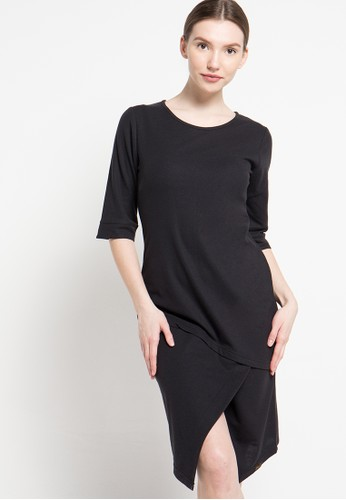 Gaff black Leilani Dress Pique GA640AA80GSTID_1