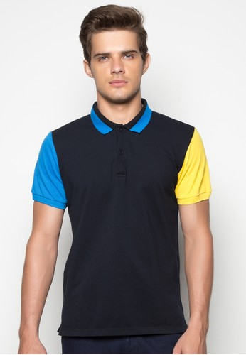 Color-blocked Polo Shirt