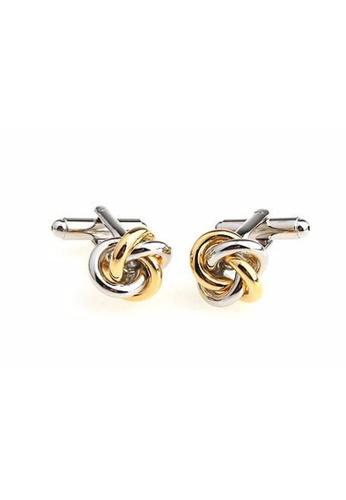 The Little Link Cufflinks gold Interlocked cufflinks TH089AC0FSV0SG_1
