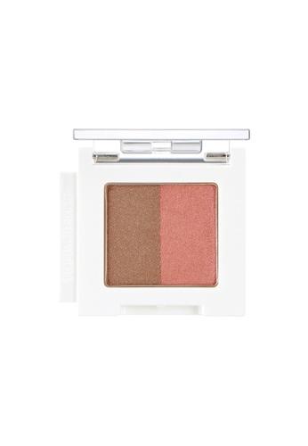 THE FACE SHOP Mono Cube Eyeshadow (Dual) BR02 Orange Mocha B0EC0BE49F75CEGS_1