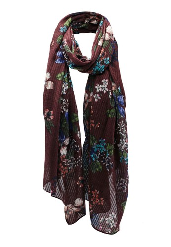 ONLY multi and brown Printed Scarf ECBCCAC112BD8AGS_1