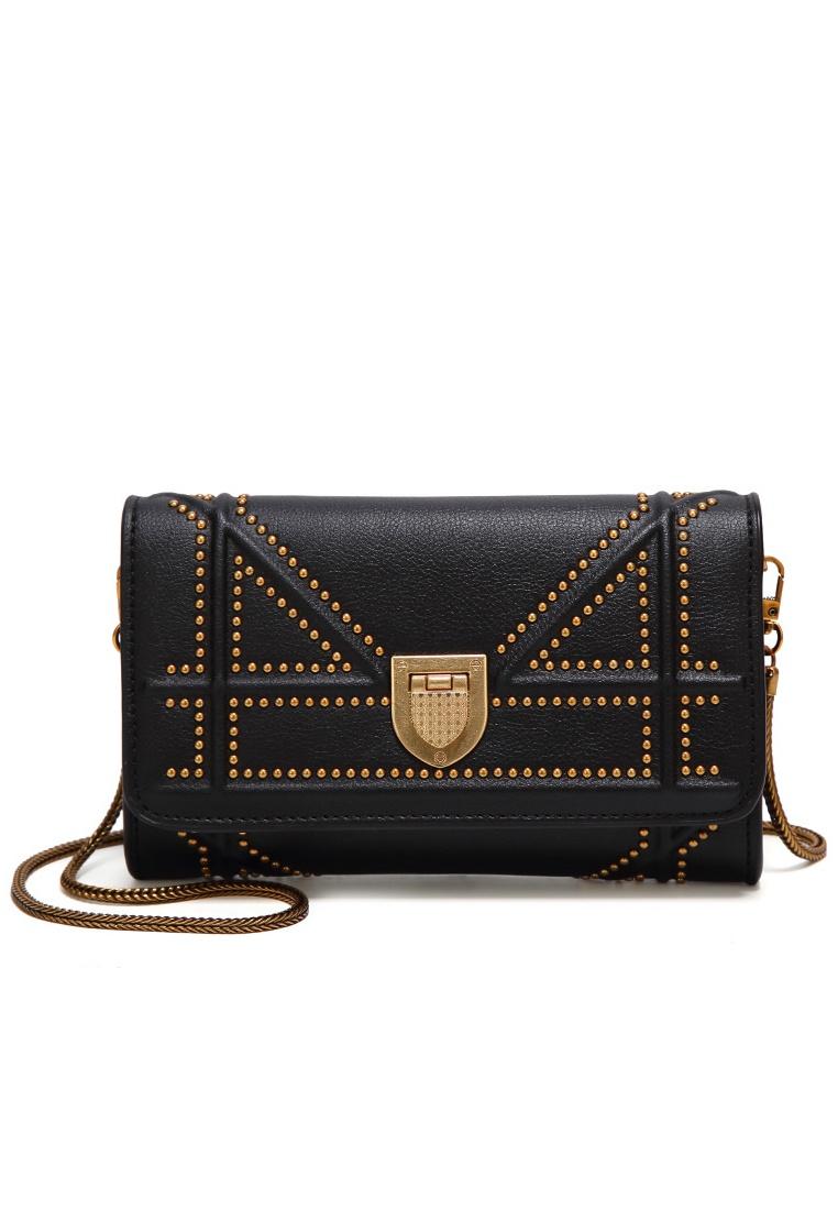 Women s Chain Black Friday Bag Rivet Sling black Lara OOAvHnxR in ... 8f4342e74b