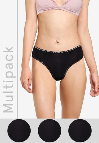 Tommy Hilfiger black 3-Pack Bikini Cut Panties D060AUS86B4549GS_1