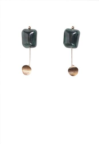 LUNER green Square Earrings 1BCC2ACA939E78GS_1
