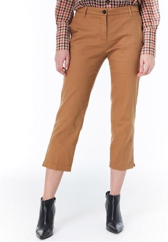 Sisley brown Regular Fit Pants C93E3AA43C50EFGS_1