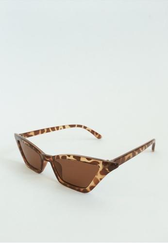 ASHLEY SUMMER CO brown 1920s Parisan Style Cat Eye Sunglasses - Tortoise Shell Brown E6D44GLBB85C68GS_1
