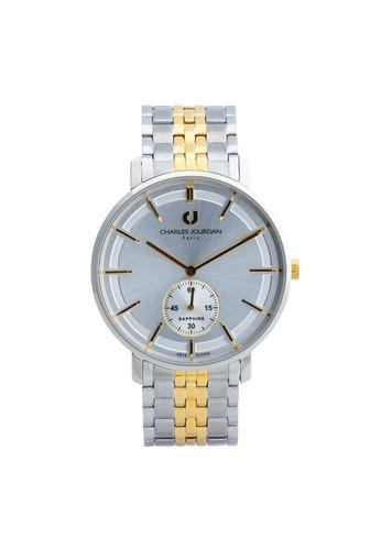 Charles Jourdan silver Charles Jourdan CJ1032-1112 - Jam Tangan Pria - Silver Gold BO710AC0WAASID_1