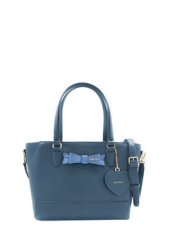 SEMBONIA blue Synthetic Leather Tote Bag (Blue) SE598AC0RVVQMY_1