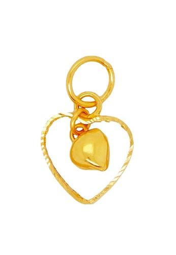 LITZ gold LITZ 916 (22K) Gold Heart Pendant GP0020 (0.60g+/-) E546DAC6DA6EB0GS_1