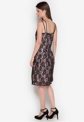 Shop Chelsea Esteva Spaghetti Strap Lace Dress Online on ZALORA Philippines