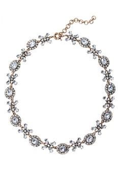 Faux Stone Statement Necklace – Antique