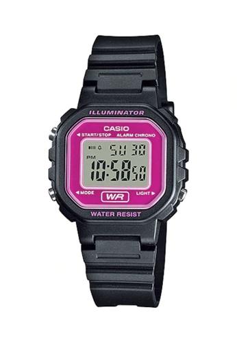 CASIO pink Casio Kid's Digital LA-20WH-4ADF Black Resin Band Casual Watch 9EFE4ACE4C126EGS_1