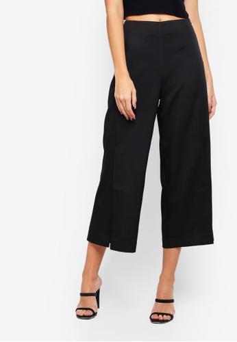 ZALORA black Semi Formal Culottes With Slits 4E5FCAABD6E1EEGS_1
