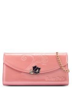 浮雕玫瑰長夾包