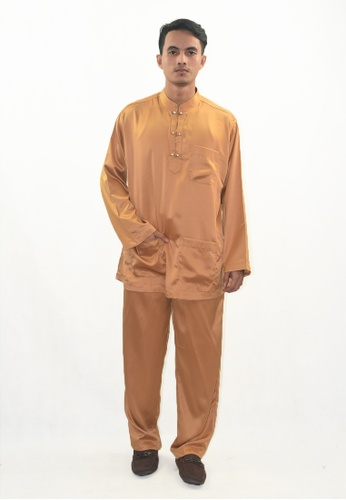 Denai Boutique brown Baju Melayu Zeid 42557AA8F67276GS_1