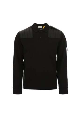 Moncler black Moncler Genius 5 Craig Green Polo Tee in Black 95980AA3E93FEDGS_1