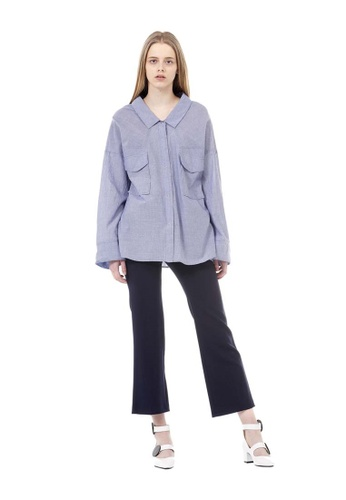 VOV(Voice of Voices) blue Tencel Striped Shirts 8F057AAE6ECA6DGS_1