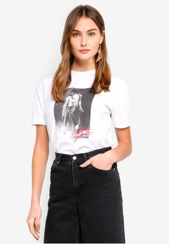 Mango white Michael Jackson T-Shirt 358BCAA4E144F2GS_1