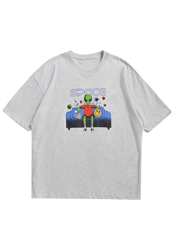 Twenty Eight Shoes Oversized Printed Short T-shirt 5346S21 EAE96AAA8D6E4DGS_1