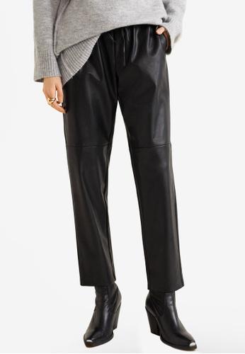 Mango black Adjustable Waist Trousers BF428AA2C406F5GS_1