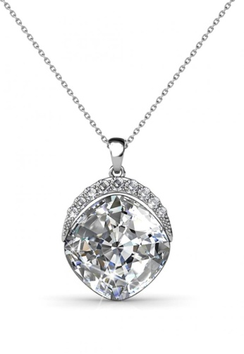 Her Jewellery silver Her Jewellery Tiffy Pendant (White Gold) with Necklace Chain with 18K Gold Plated HE581AC0R9X4MY_1