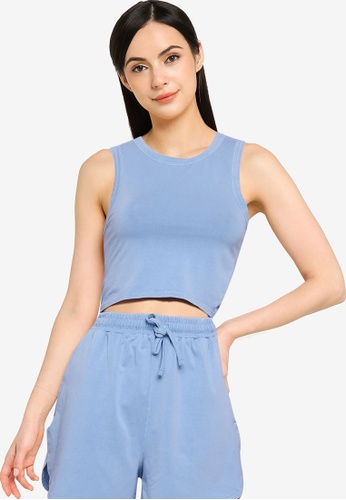 Mango blue Essential Cotton Top 28918AA4AFB983GS_1