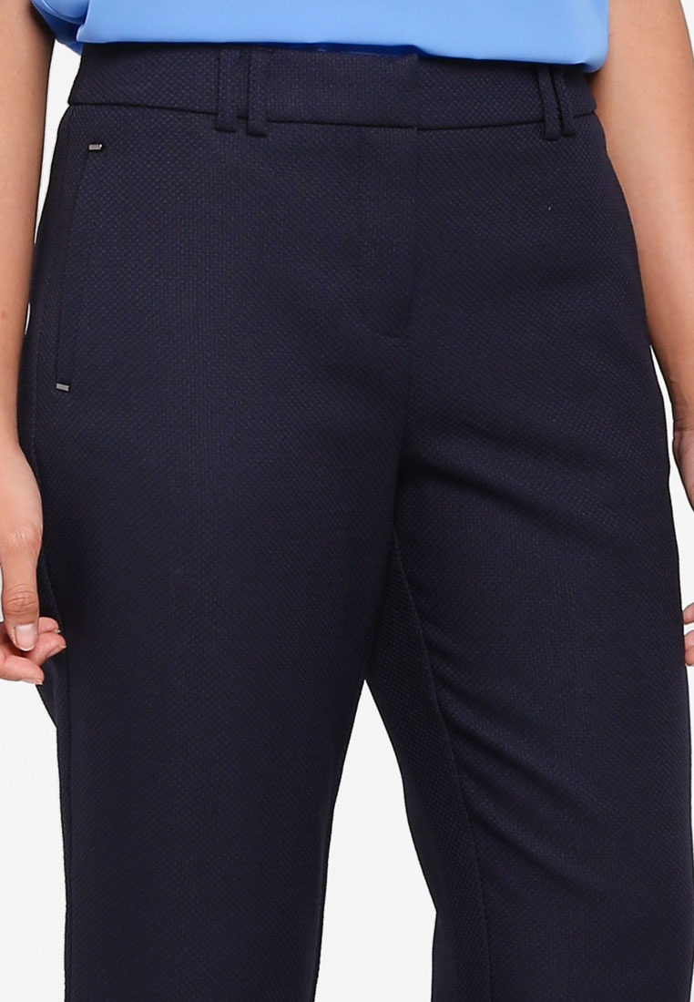 Textured Dorothy Perkins Slim Regular Blue Trousers Navy ZSq6EHcwRS