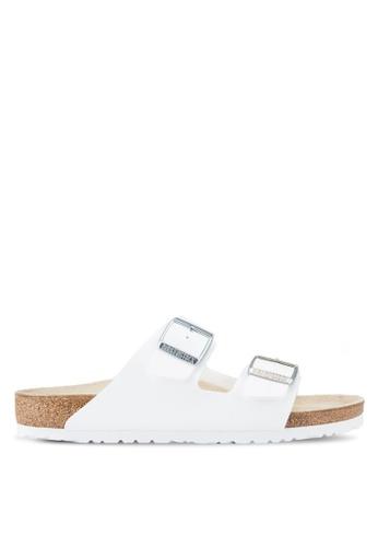 Birkenstock white Arizona BF Sandals BI090SH08OBFMY_1