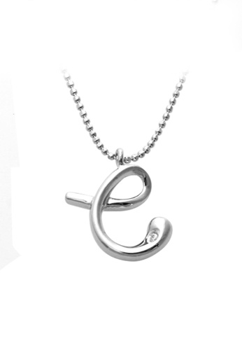 """The LoveMark silver Small """"C"""" Necklace TH516AC68ZTBPH_1"""