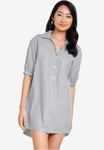 ZALORA BASICS multi Oversized Shirt Dress C18A2AAE8D77B1GS_1