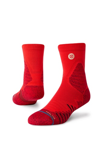 STANCE red STANCE Socks Red Icon Hoops Qtr Medium AC13AAA754966CGS_1