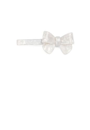 Glamorousky white Fashion and Elegant White Ribbon Hair Clip 2BC81AC8C539EEGS_1