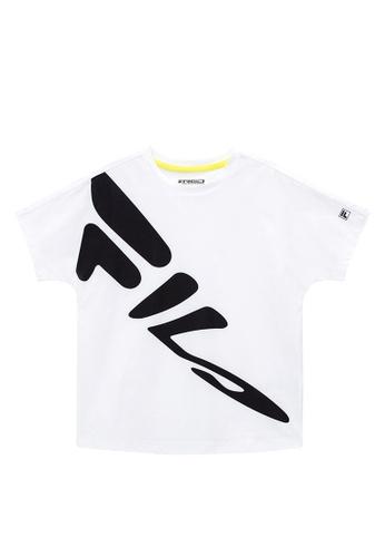 FILA white FILA KIDS Graffiti FILA Logo T-shirt 8-15yrs 75723KA0F1C4F8GS_1