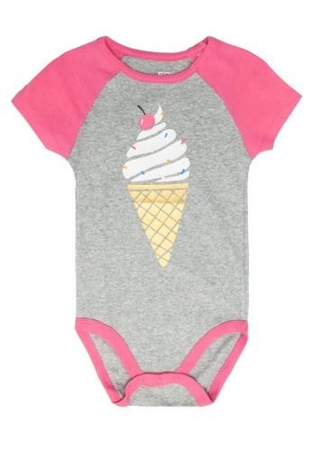 FOX Kids & Baby grey Short Sleeve Bodysuit 5DA10KACBF13A2GS_1