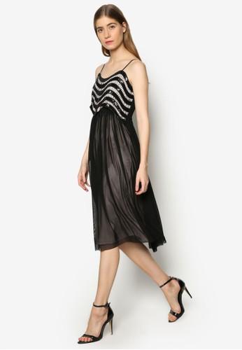 Jena 蕾絲閃飾寬esprit hk擺洋裝, 服飾, 洋裝