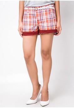 Slimming Checkered Shorts