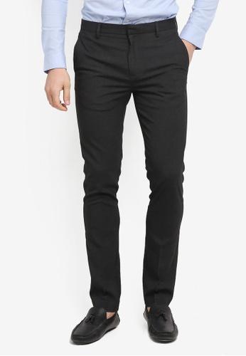 Topman grey Skinny Fit Smart Trousers ED2B8AA131BF38GS_1