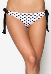 Piha white Polka Face Tie Side Bikini Bottom PI734US39NYIMY_1