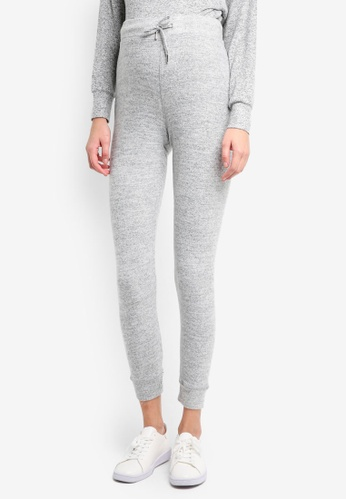 TOPSHOP grey Maternity Super Brushed Joggers TO412AA0T0WGMY_1