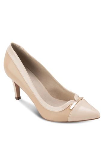 拼色尖頭高跟鞋, 女esprit outlet鞋, 鞋