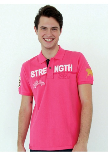 POLO HAUS pink Polo Haus - Polo Tee (Pink) PO783SE56FPJMY_1