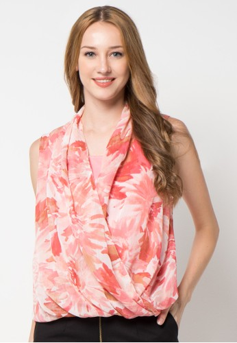 WHITEMODE pink Alma Blouse WH193AA16CQTID_1