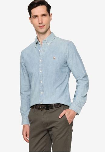 Polo Ralph Lauren 藍色 Sl Bd Ppc Sp-Long Sleeve-Sport Shirt 26819AAEB5AD77GS_1