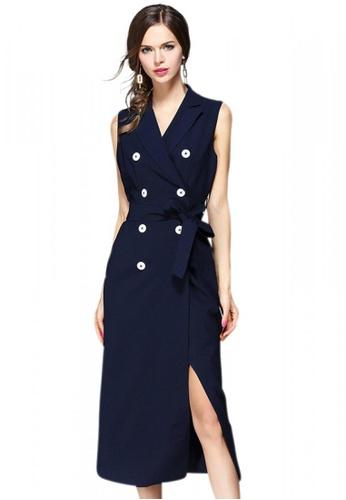 Sunnydaysweety blue Elegant Polyester Blue One-piece Dress UA050233 SU219AA0HA8VSG_1