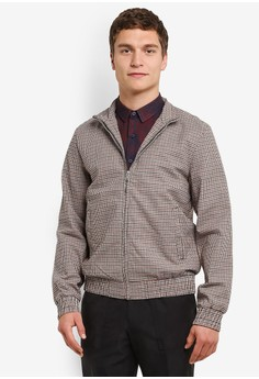 Topman-Checkered Harrington 夾克